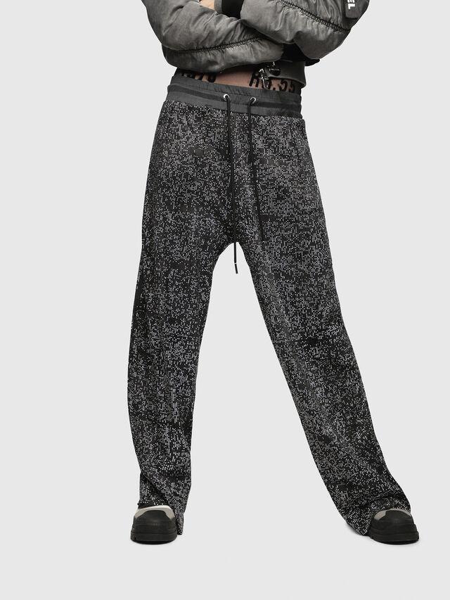 Diesel - P-STRASS, Black/Grey - Pants - Image 1