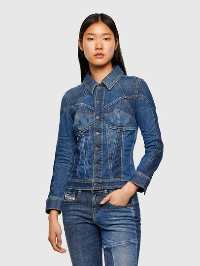 Diesel - DE-JYBRA, Medium blue - Denim Jackets - Image 1