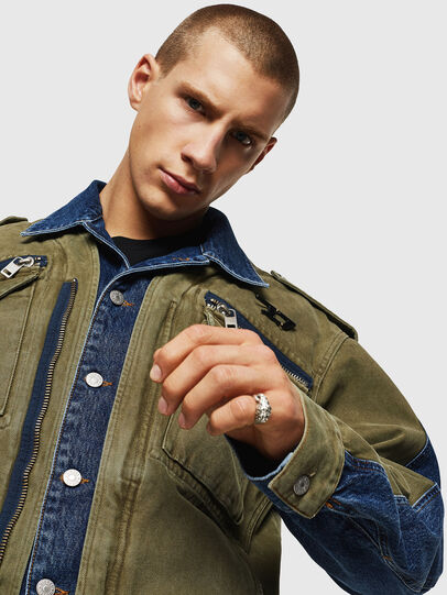 Diesel - D-MALLY, Blue/Green - Denim Jackets - Image 3