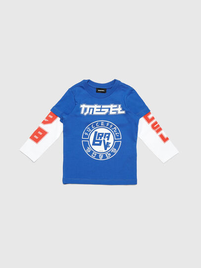 Diesel - TUCOB-R, Blue - T-shirts and Tops - Image 1