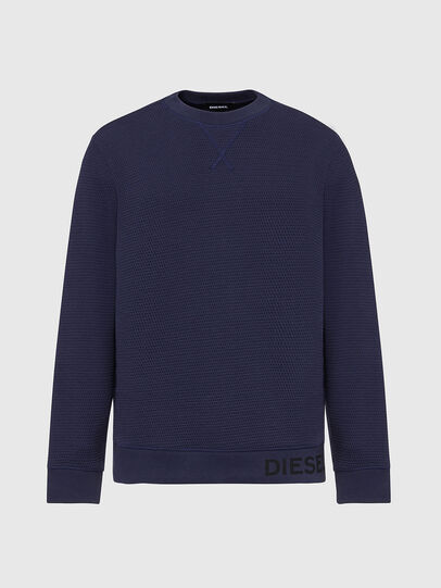 Diesel - S-PEWTER, Dark Blue - Sweaters - Image 1