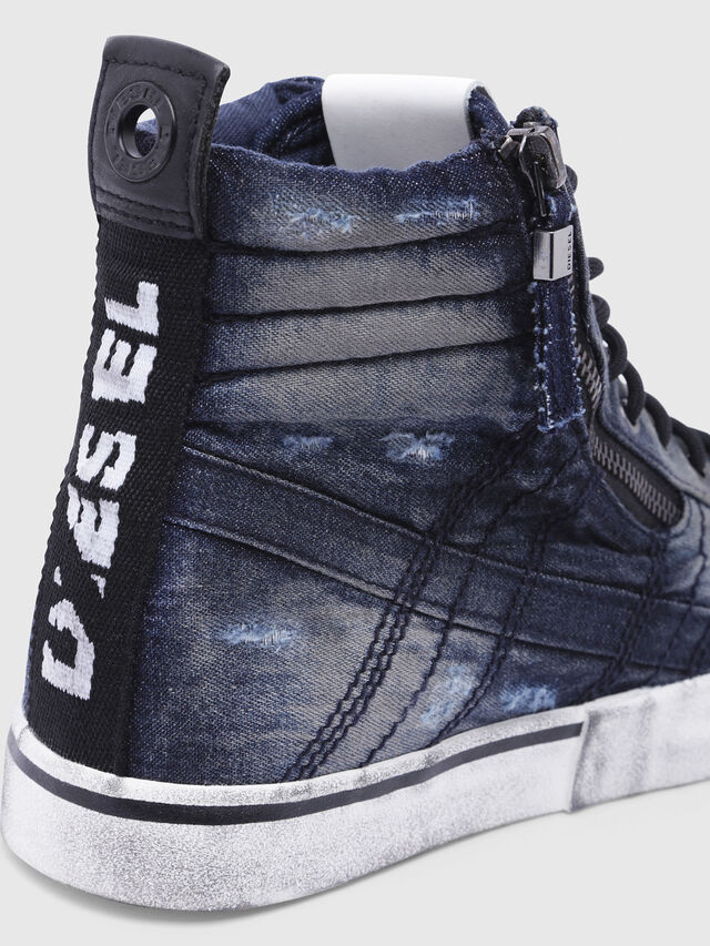 Diesel - D-VELOWS MID LACE, Black/Blue - Sneakers - Image 5