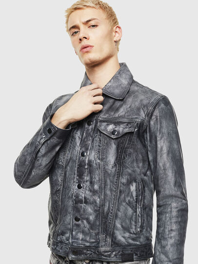 Diesel - L-NHILL, Black - Leather jackets - Image 1