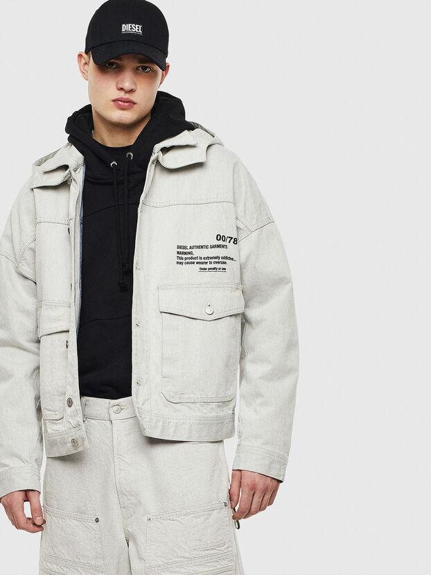 D-EDDY, White - Denim Jackets