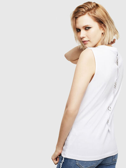 Diesel - T-LESLEE-A, White - T-Shirts - Image 2