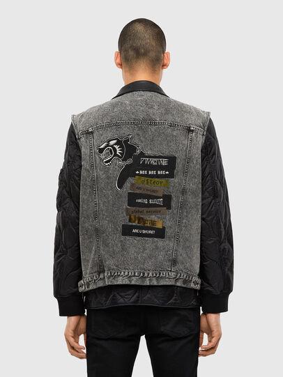 Diesel - D-DESTROY-SP, Grey/Black - Winter Jackets - Image 2