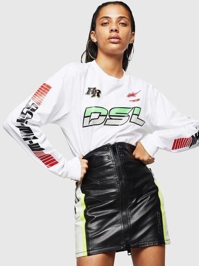 Diesel - ASTARS-T-JUST-LONG-F, White - T-Shirts - Image 4