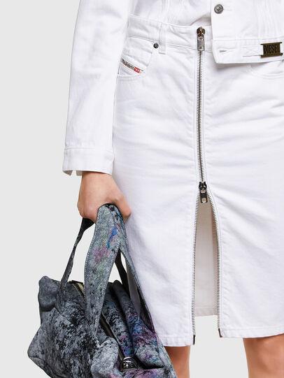 Diesel - DE-PENCIL-ZIP, White - Skirts - Image 4