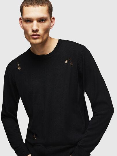 Diesel - K-PLUG, Black - Knitwear - Image 1
