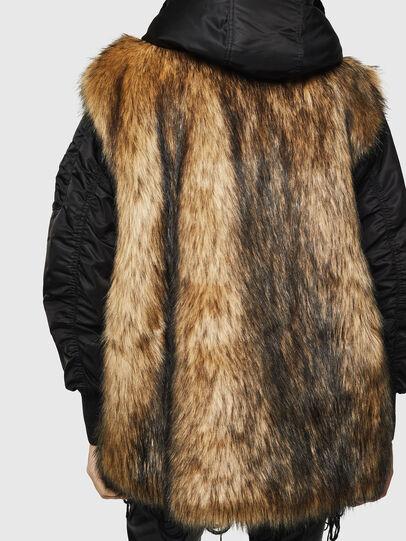 Diesel - L-ALYANA, Black/Brown - Leather jackets - Image 2