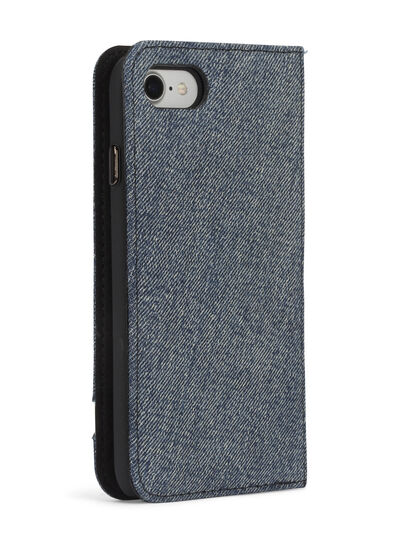 Diesel - DENIM IPHONE 8 PLUS/7 PLUS FOLIO, Blue Jeans - Flip covers - Image 7