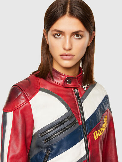 Diesel - L-POLLY, Red - Leather jackets - Image 3