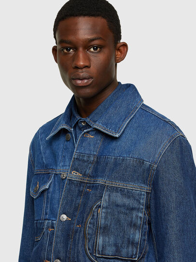 Diesel - D-COSNIL, Medium blue - Denim Jackets - Image 3
