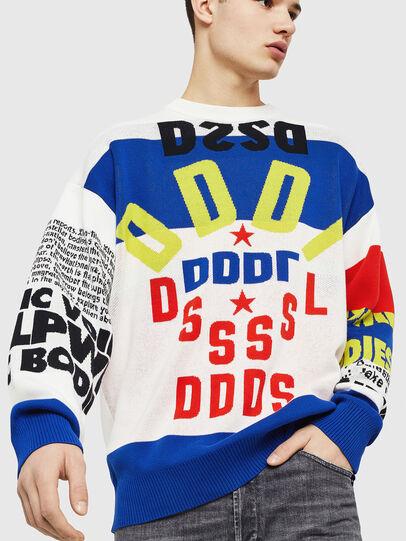 Diesel - K-RUBLO, White/Red/Blu - Knitwear - Image 1