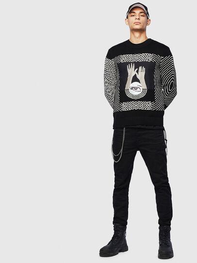 Diesel - K-OCCHY, Black - Knitwear - Image 6