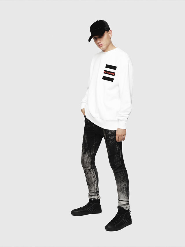 Diesel - S-BAY-YE, White - Sweaters - Image 4