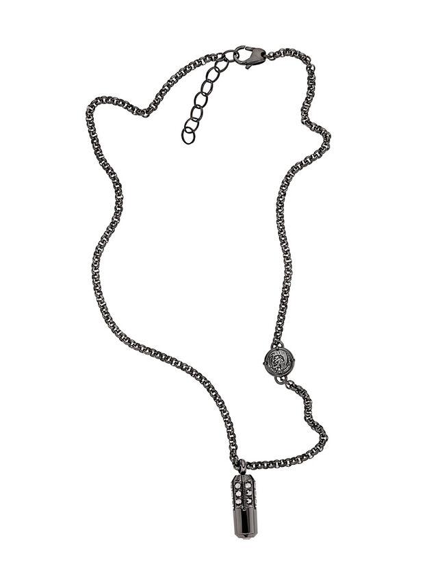 Diesel NECKLACE DX1026, Dark Grey - Necklaces - Image 1