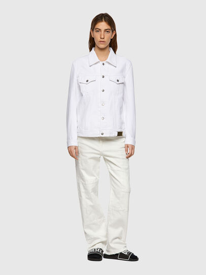 Diesel - NHILL-C1, White - Denim Jackets - Image 8