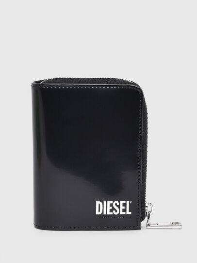 Diesel - L-12 ZIP, Black - Zip-Round Wallets - Image 1