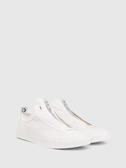 Diesel - S-ASTICO LOW ZIP SP, White - Sneakers - Image 2