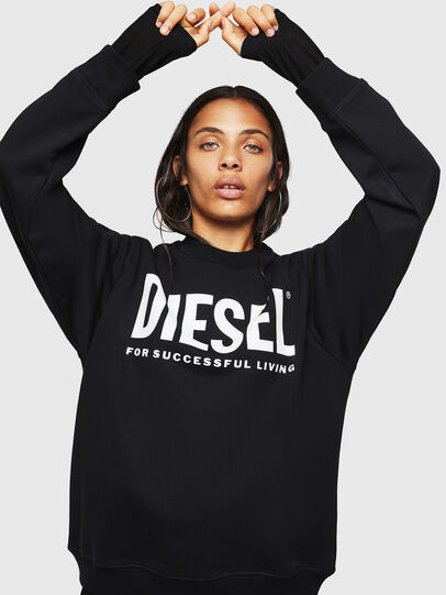 Diesel - F-ANG, Black/White - Sweaters - Image 5