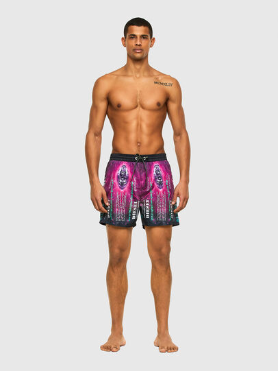 Diesel - BMBX-WAVE 2.017, Black/Violet - Swim shorts - Image 1
