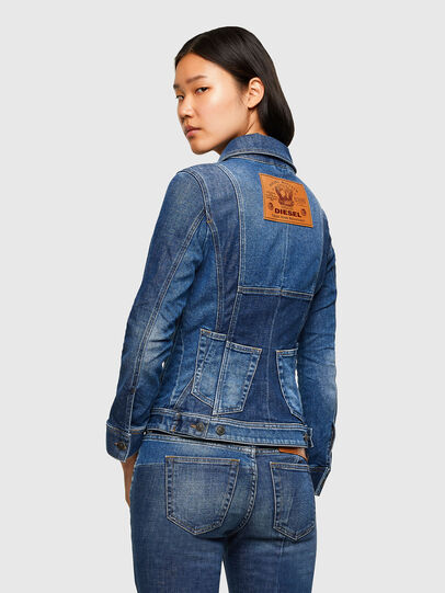 Diesel - DE-JYBRA, Medium blue - Denim Jackets - Image 2