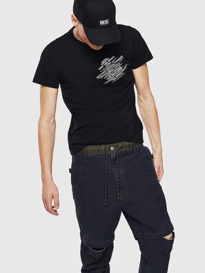 T-WORKY-S1, Black - T-Shirts