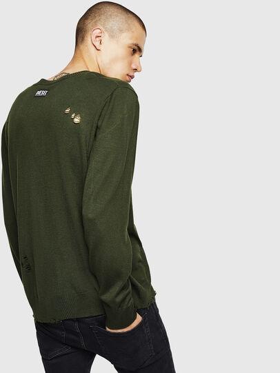 Diesel - K-PLUG, Dark Green - Knitwear - Image 2