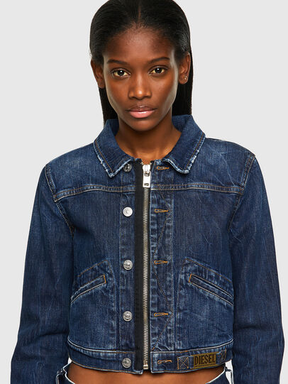 Diesel - DE-BLONDY, Dark Blue - Denim Jackets - Image 3