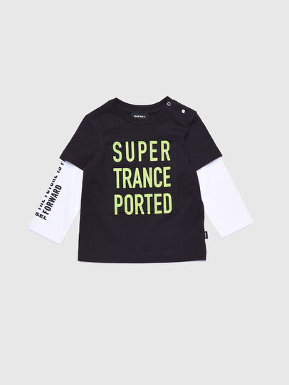Diesel - TANCEB, Black/White - T-shirts and Tops - Image 1