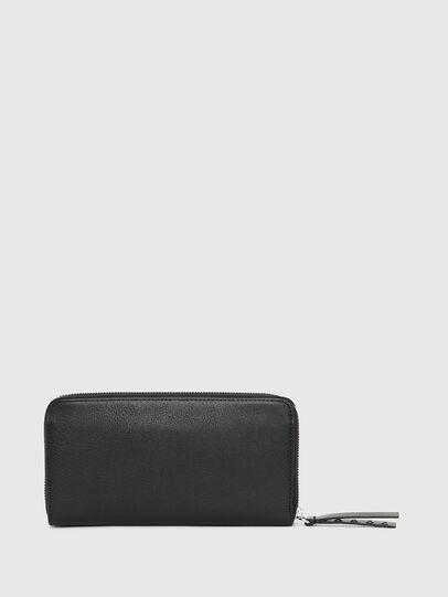 Diesel - 24 ZIP, Black - Zip-Round Wallets - Image 2