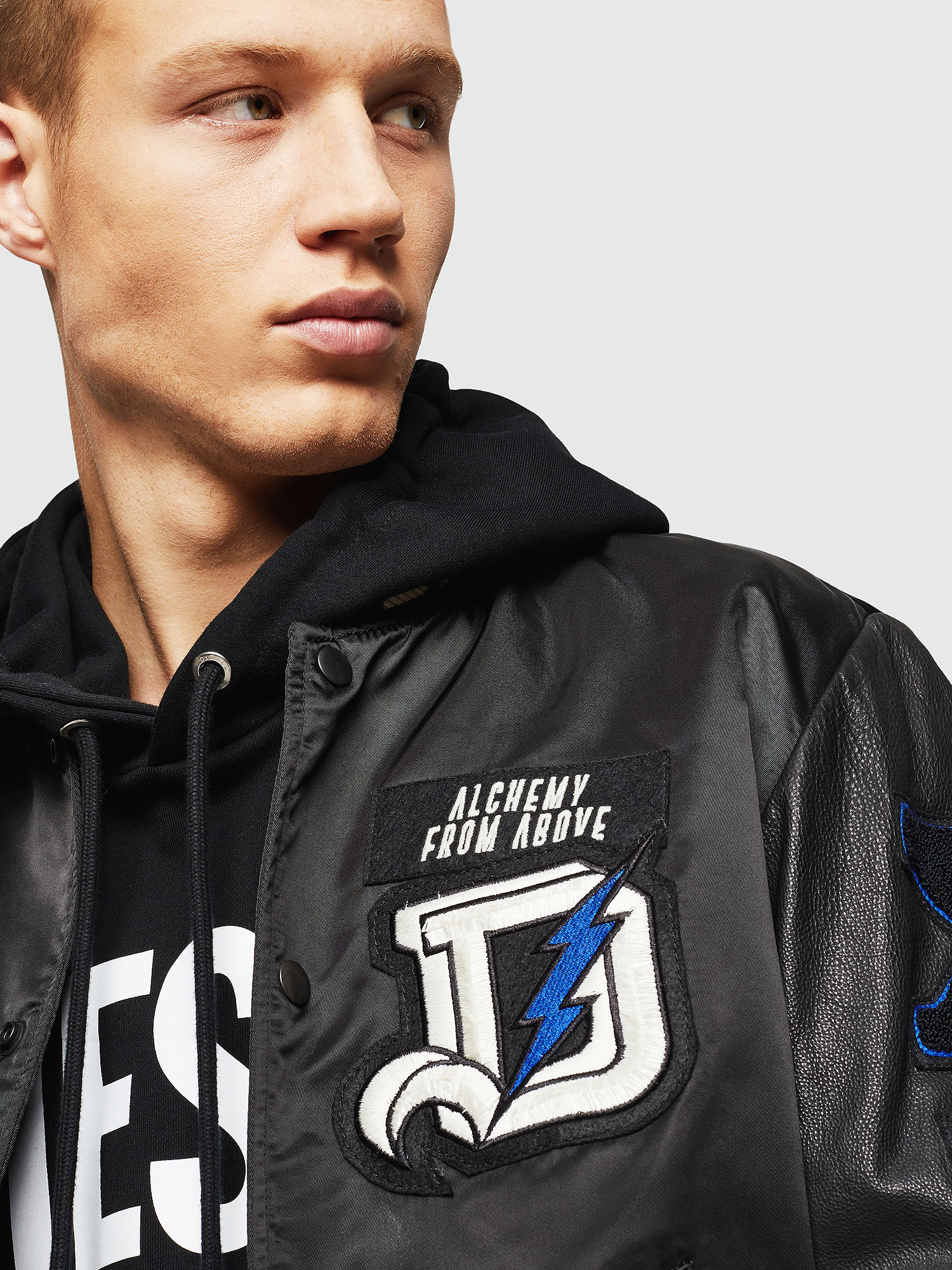 Diesel - L-KHARKOV,  - Leather jackets - Image 3