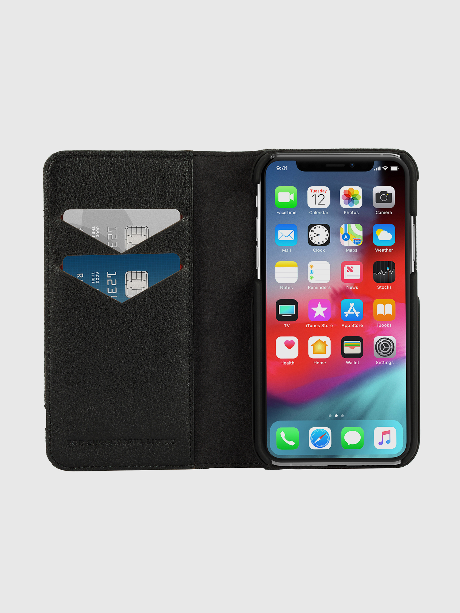 Diesel - DIESEL 2-IN-1 FOLIO CASE FOR IPHONE XS & IPHONE X,  - Flip covers - Image 7